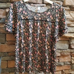 Old Navy drapey floral top